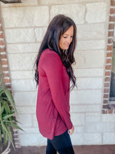 Load image into Gallery viewer, Sia Burgundy Tunic Top