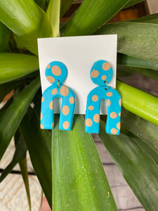 HOUSTON ARTISAN TEAL ARCH BOHO EARRINGS