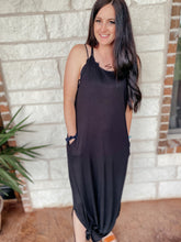 Load image into Gallery viewer, Lakelyn Black Summer Maxi Dress