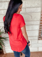 Load image into Gallery viewer, Gemma Coral Short Sleeve Top