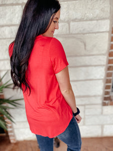 Gemma Coral Short Sleeve Top