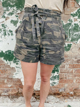 Load image into Gallery viewer, Harlow Camouflage Paper Bag Shorts