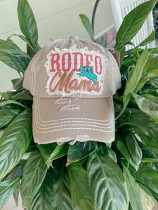 Rodeo Mama Distressed Patch Hat