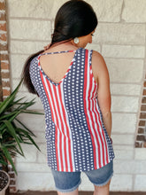 Load image into Gallery viewer, Patty Patriotic Tank Top