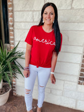 Load image into Gallery viewer, America Red Graphic Tee
