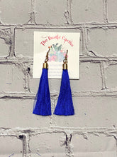 Load image into Gallery viewer, LAMAR SINGLE TASSEL BOHO FASHION EARRINGS