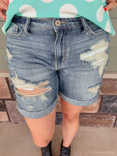 Load image into Gallery viewer, REBECCA DESTROYED DENIM SHORTS