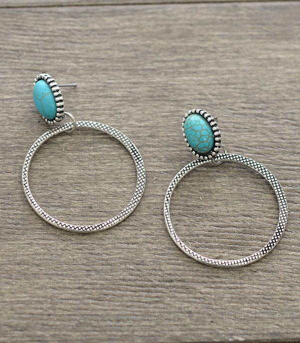 Osage Turquoise Earrings