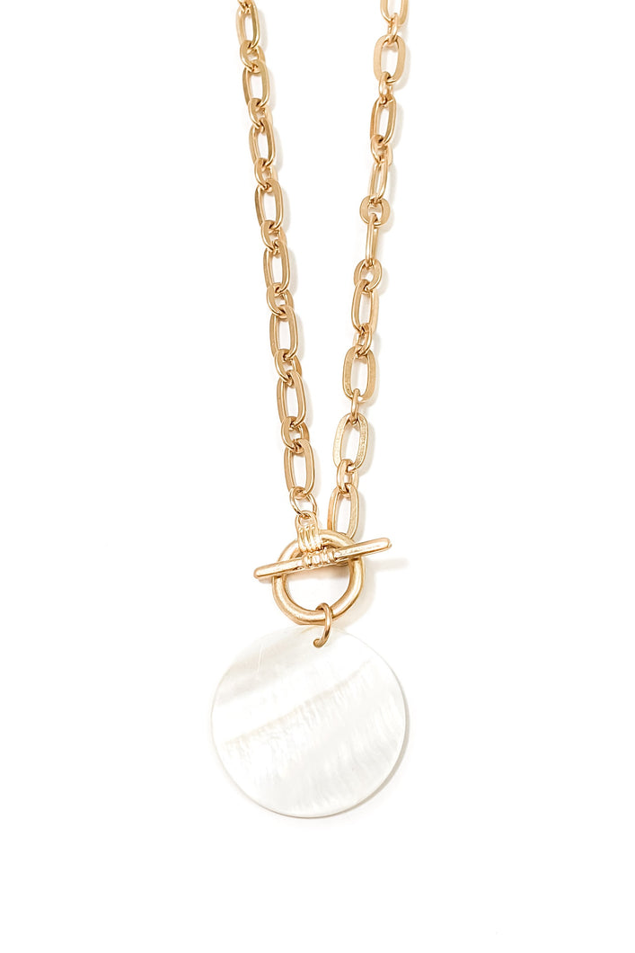 Vancouver Gold Disc Necklace