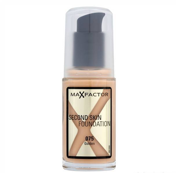 Make up Second Skin Max Factor 30ml 075 Golden - Miss Beauty shop