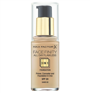 Make up με Βάση & Καλυπτικό Ματιών Max Factor Face Finity Sand 60 30ml - Miss Beauty shop