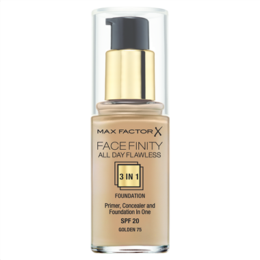 Make up με Βάση & Καλυπτικό Ματιών Max Factor Face Finity 75 Golden 30ml - Miss Beauty shop