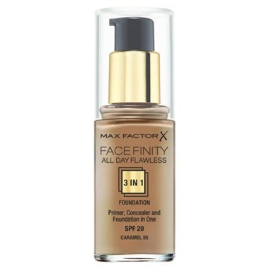 Make up με Βάση & Καλυπτικό Ματιών Max Factor Face Finity 85 Caramel 30ml - Miss Beauty shop