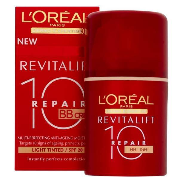 Κρέμα L'Oreal  BB Cream Revitalift Total Repair 10  Light 20SPF 50ml - Miss Beauty shop