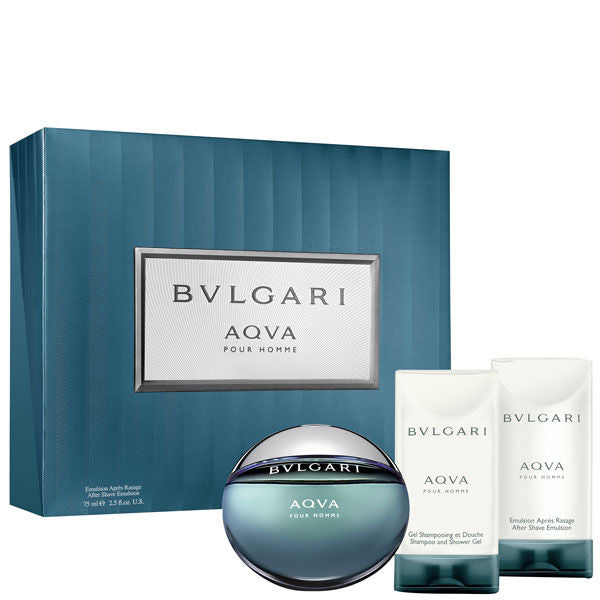 Σέτ Αρώματος Bulgari Aqua Pour Homme 50ml EDT & Emulsion 75ml & Shampoo 75ml - Miss Beauty shop