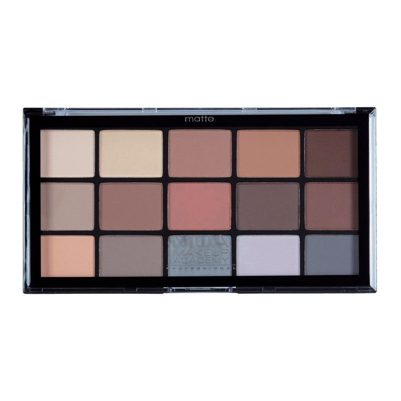 15 Σκιές Vegan σε παλέττα Mua Shade Matte Feather Light Palette 17gr - Miss Beauty shop