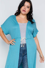 Load image into Gallery viewer, Plus Size Basic High Low Cardigan Cover Up