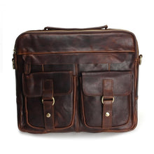 Load image into Gallery viewer, Genuine Leather Men Bags Man * Crossbody Shoulder Handbag * Men Messenger Bags Male Briefcase Men's Travel