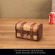 Load image into Gallery viewer, Retro Wooden Treasure Box Makeup Organizer Jewelry Box Storage Boxes Bins Creative Multifunction Decor Home Storage Organization