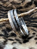 Animal Print Bangle Sterling Silver Bangle Bracelet