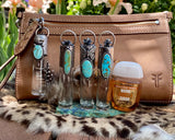 "Animal print & Turquoise Elixir Hand sanitizer ""PROTECTOR"" Glass bottle"