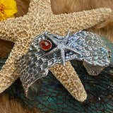 Reef Starfish and Garnet Sea Fan Coral Cuff