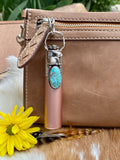 "Rose Gold Bunny & Turquoise Elixir Hand sanitizer ""PROTECTOR"" Glass bottle"