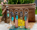 "Rose Gold Butterfly & Turquoise Elixir Hand sanitizer ""PROTECTOR"" Glass bottle"