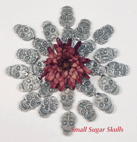 "Sugar Skull ""small"" Castings Sterling silver"