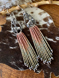 "Desert Dweller ""Buffalo Roam"" hand cast Sterling Silver beaded Earrings"