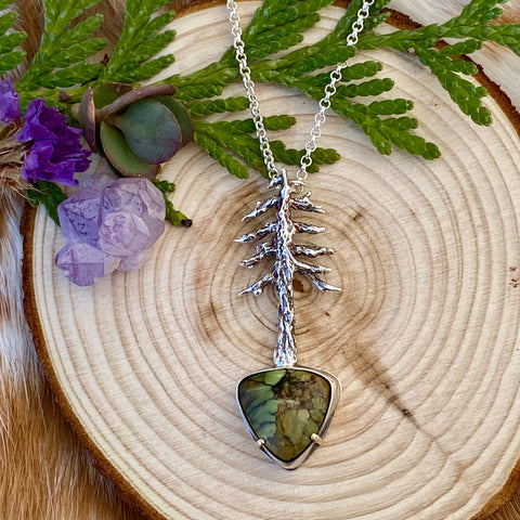 "Lone Pine ""Snowville Variscite"" sterling silver necklace"