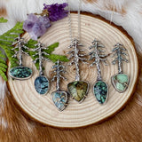 "Lone Pine ""7 Dwarves Turquoise"" sterling silver necklace"