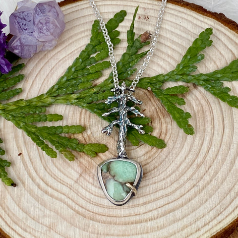 "Lone Pine ""N. Damele Turquoise"" sterling silver necklace"
