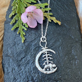 Moon Scape ~ This is Bear Country sterling silver necklace