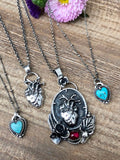 Wild heart,Fierce mind,Brave spirit Necklace