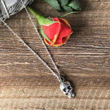 Hand Cast Mini Skull Necklace