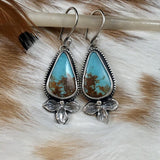 Boho Kingman Turquoise Sterling Silver Earrings