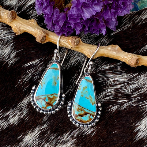 Rustic Southwest Boho Turquoise Earrings