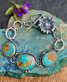 Old stock Royston Turquoise Wildflower bracelet