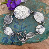 Meet me in the Garden sterling silver bracelet.