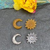 Castings - Sun and Crescent Moon