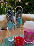 "Butterfly floral Elixir Hand sanitizer ""PROTECTOR"" Glass bottle"