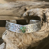 Sonora Gold Turquoise floral Sterling Silver Cuff Bracelet