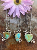 Succulents and turquoise Necklace