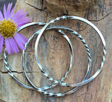 TWISTED Stacker Bangle Sterling Silver Bangle Bracelet