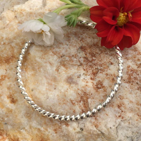 FullyTWISTED Stacker Bangle Sterling Silver Bangle Bracelet