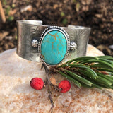 Rustic Southwest Kingman Cuff in Sterling Silver statement bracelet