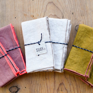 Deadstock Linen Tea Towel Set