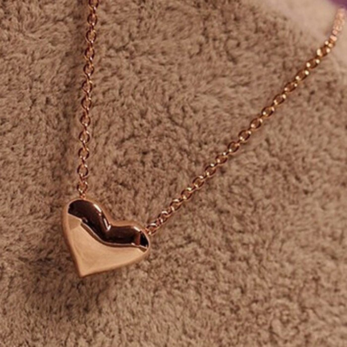 Fashion Women Gold Heart Bib Statement Chain Pendant Necklace Jewelry