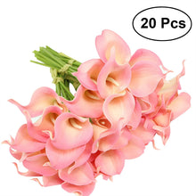 Load image into Gallery viewer, 20pcs Artificial Calla Lily Bridal Wedding Bouquet Flowers Real Touch Decorative Bouquet